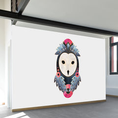 Owl Light Background Wall Mural