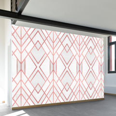 Rose Gold Geo Wall Mural