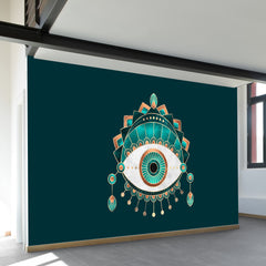 Teal Eye Wall Mural