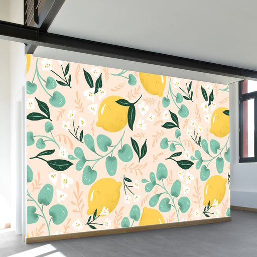 Lovely Lemons Wall Mural by Walls Need Loveᄄ