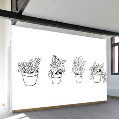 Desk Plants Wall Mural