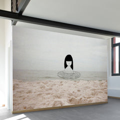 Water Girl Wall Mural