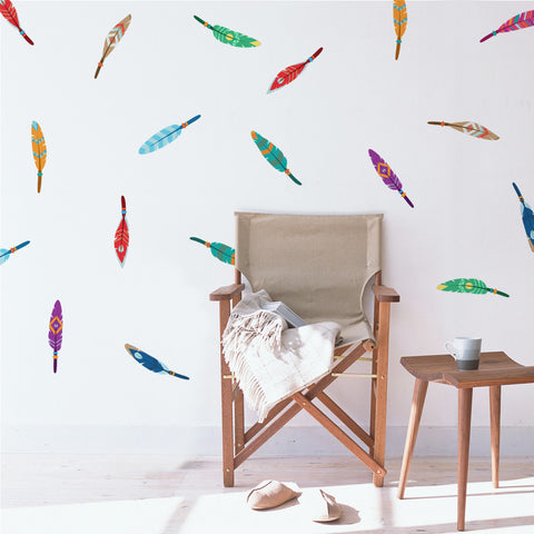 Decorative Feathers Mini-Pack Wall Decals