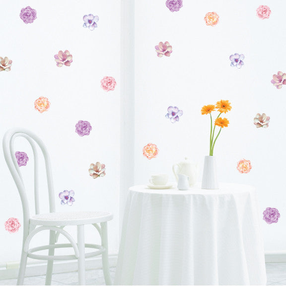Decorative Flowers Mini-Pack Wall Decals