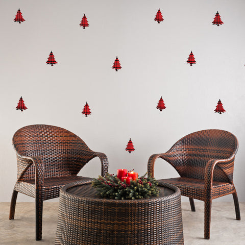 Plaid Tree Mini-Pack Wall Decals
