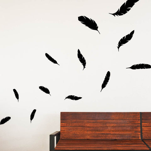 falling feathers wall decals lifestyle - Wall Decals