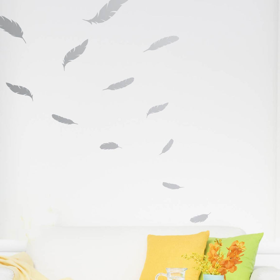 Falling Feathers Wall Decals | lifestyle