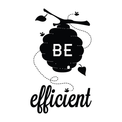 Be Efficient - Office Quote Wall Decals