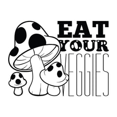 Eat Your Veggies - Office Quote Wall Decals