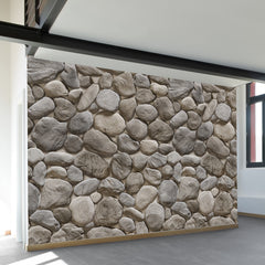 3D Stone Pattern Wall Mural