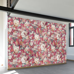 Red Flowers Wall Mural