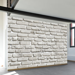 White Brick Pattern Wall Mural
