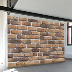 Coffee Brick Pattern Wall Mural