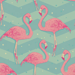 Flamingo Birds Removable Wallpaper