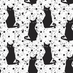 Hand Drawn Cat Pattern Removable Wallpaper