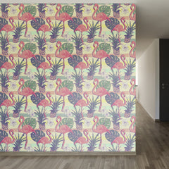 Flamingos and Pineapples Removable Wallpaper