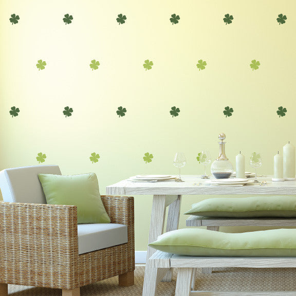 Lucky Clovers Mini-Pack Wall Decals | lifestyle
