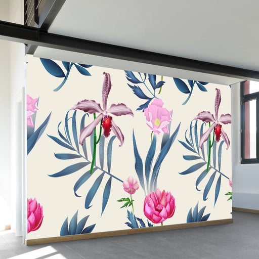 In the Tropics Wall Mural by Walls Need Loveᄄ