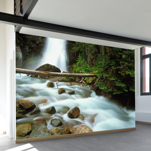Waterfall In Glacier National Park Wall Mural by Walls Need Love?