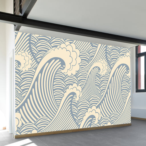 Waves of Chic Wall Mural by Walls Need Loveᄄ
