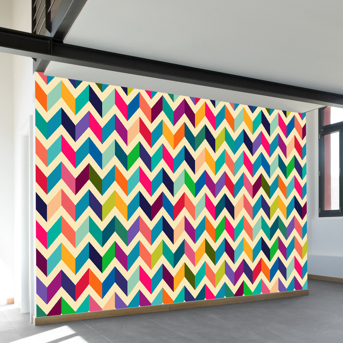 Dimensional Retro Wall Mural by Walls Need Loveᄄ