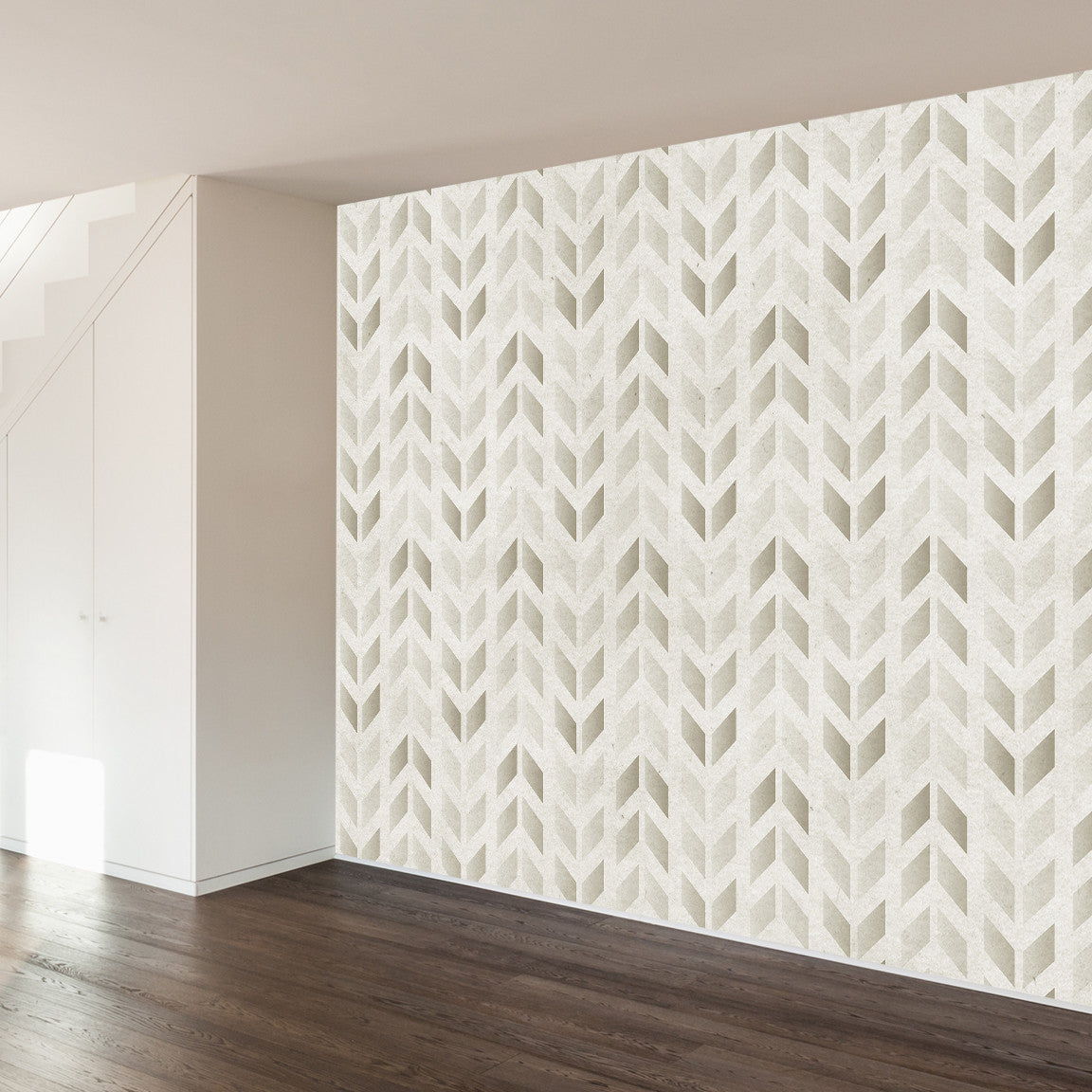 Stamped Chevron Wall Mural image