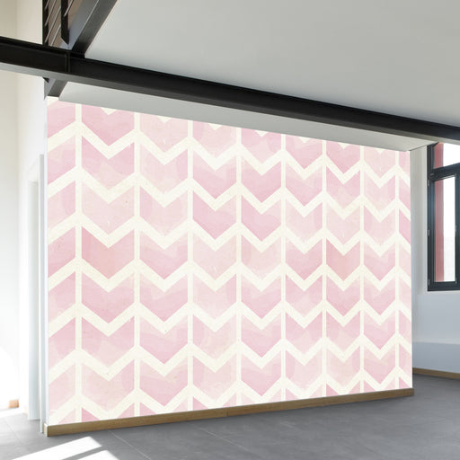 Rose Chevrons Wall Mural by Walls Need Loveᄄ