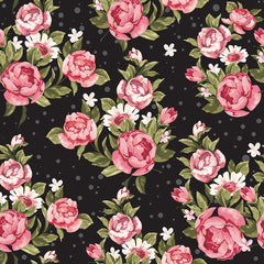 Roses on Black Removable Wallpaper