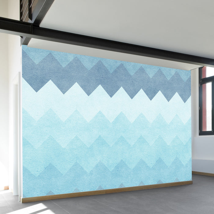 Chevron Waves Wall Mural by Walls Need Love?
