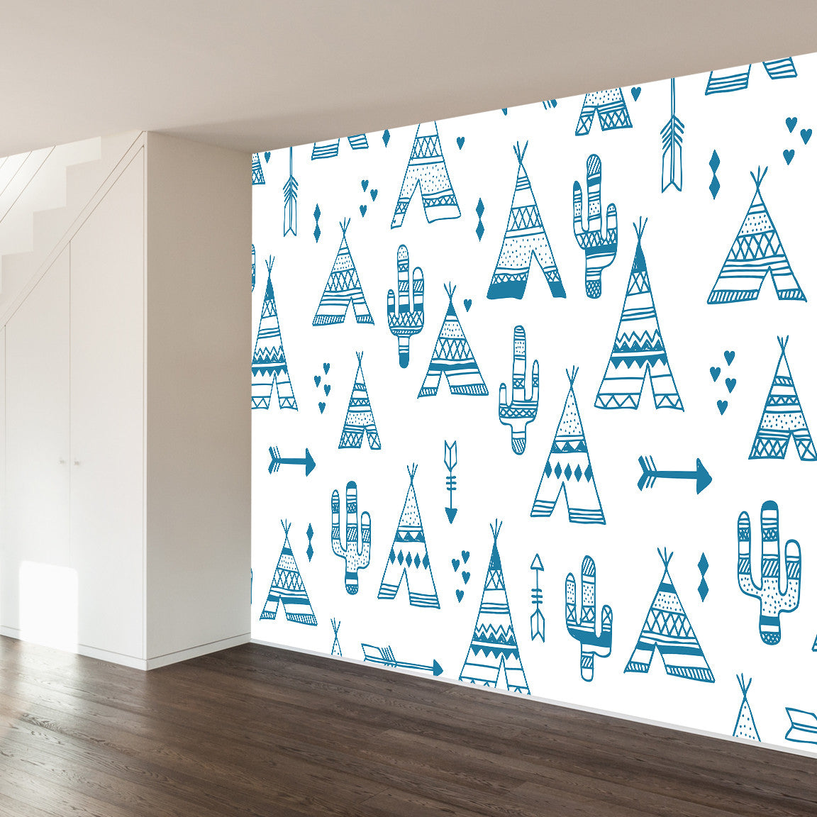TeePee City Wall Mural image