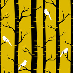 Birch Birds Removable Wallpaper