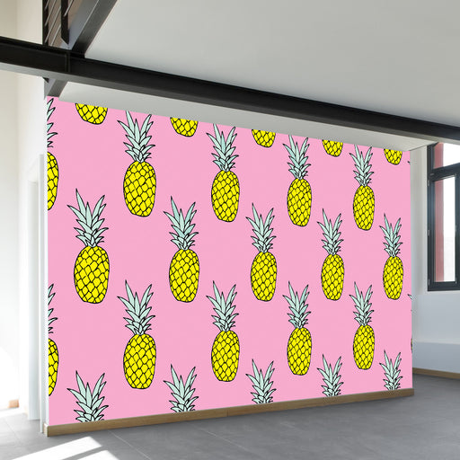Pineapple Party Wall Mural by Walls Need Loveᄄ