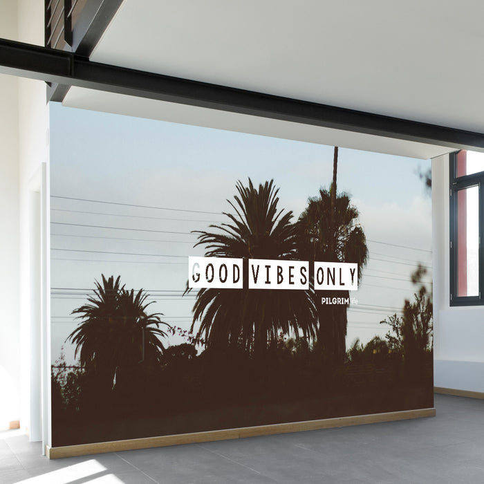 Good Vibes Wall Mural by Walls Need Loveᄄ