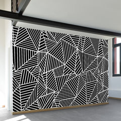 Ab Lines Black Wall Mural