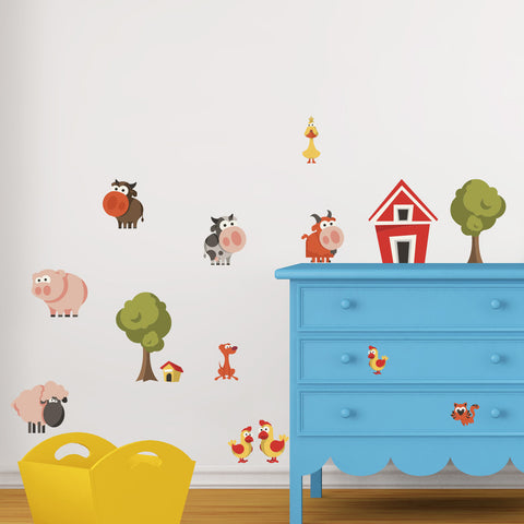 Nursery wall decals - Friendly Farm Animals Mount wall decal!!