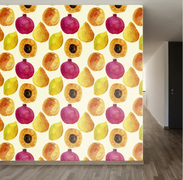 Tropical Fruit Salad removable wallpaper wall decale