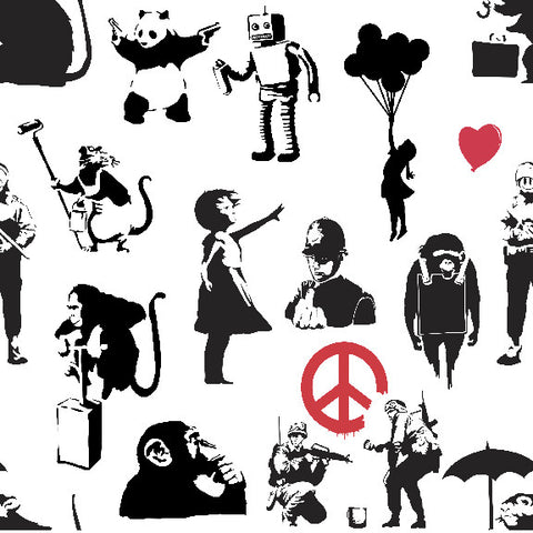 Banksy Dance Removable Wallpaper wall decal
