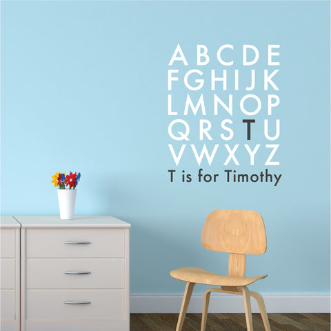 Wall Quotes Nursery Wall Decal   Alphabet Baby Monogram | Lifestyle
