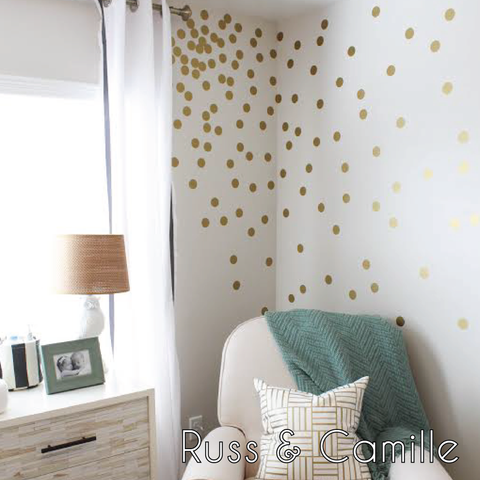 "2"" Confetti Dots in GOLD 
