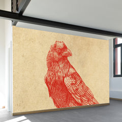 Red Raven Wall Mural