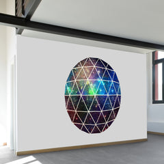 Space Geodesic Wall Mural