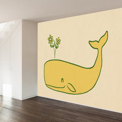 Peace Whale Wall Mural