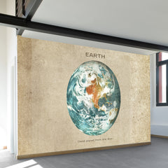 Third Planet from the Sun Wall Mural
