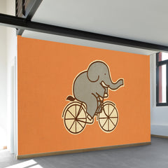 Elephant Cycle Wall Mural
