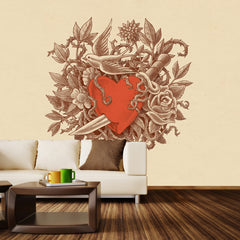 Heart of Thorns Wall Mural