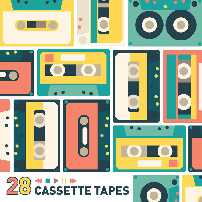Cassette Tapes Mini-Pack Wall Decals