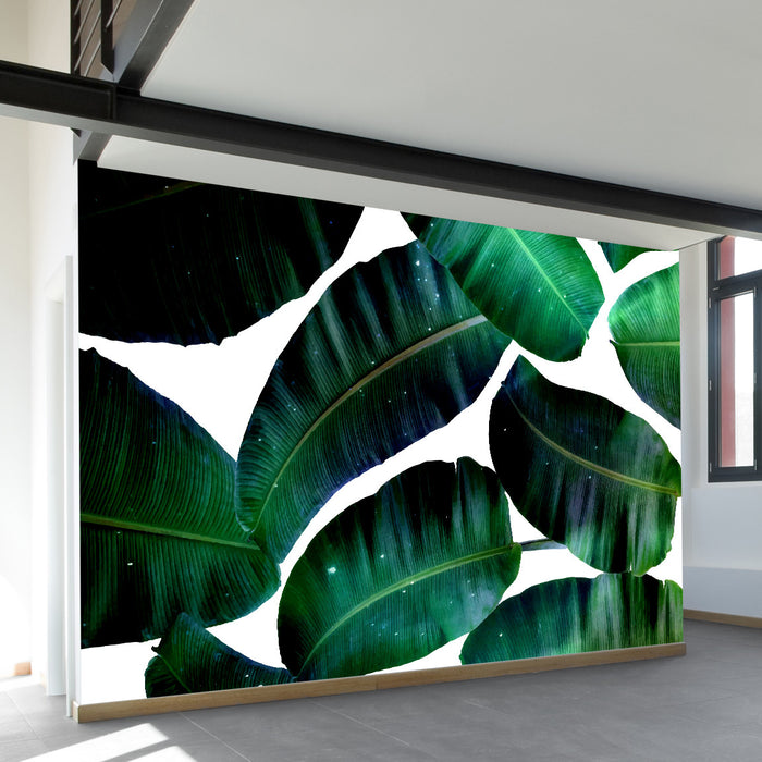 Cosmic Banana Leafs Wall Mural by Walls Need Loveᄄ