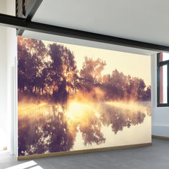River Fog Wall Mural