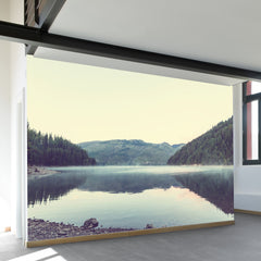 Morning on Bowman Lake Wall Mural