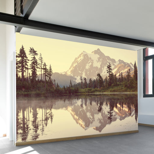 Picture Lake Wall Mural by Walls Need Love?